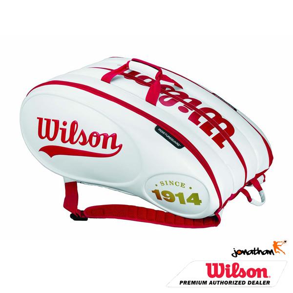 Taška WILSON 100 YEAR TOUR MOLDED 15 BAG WHITE