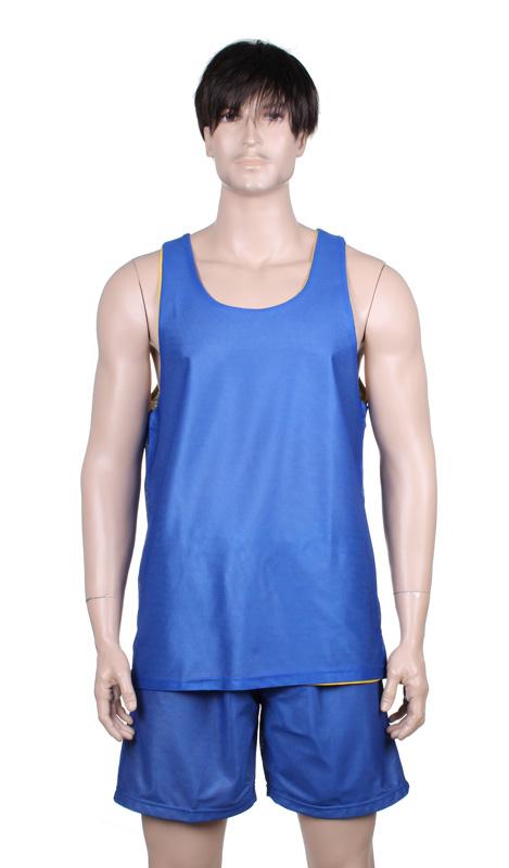 MERCO BD-1 basketbalový komlet oboustranný - yellow/blue
