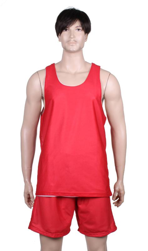 MERCO BD-1 basketbalový komlet oboustranný - red/white