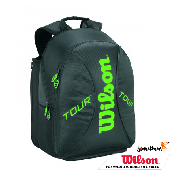 Batoh WILSON TOUR SMALL BACKPACK BLACK / LIME 2015