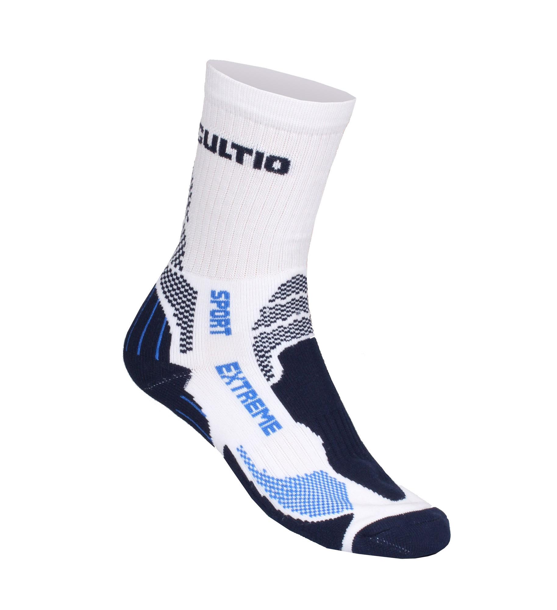 GULTIO 10 ponožky extreme sport, bílá-modrá46-47