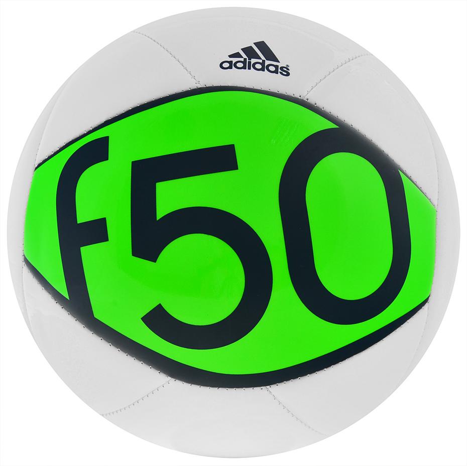 ADIDAS F50 X-ite II fotbalový míč - bílá - zelená - vel. 3