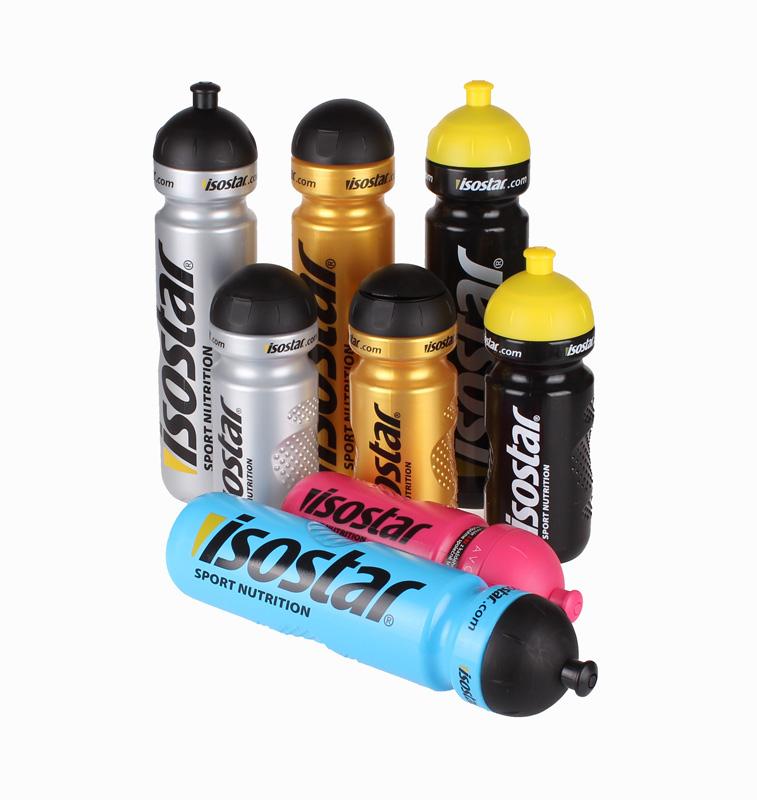 ISOSTAR sportovní láhev - stříbrná - 650 ml