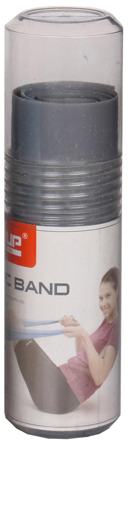 LIVEUP Aerobic guma posilovací guma, 120x15cm - šedá