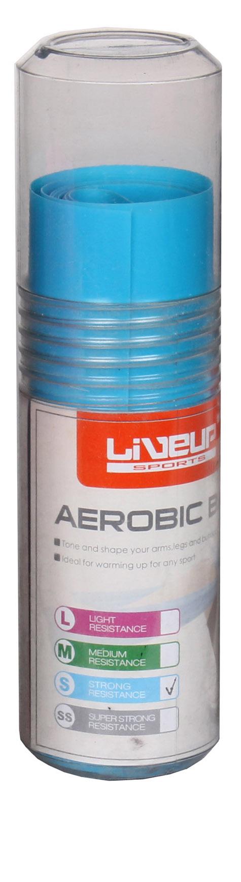 LIVEUP Aerobic guma posilovací guma, 120x15cm - modrá
