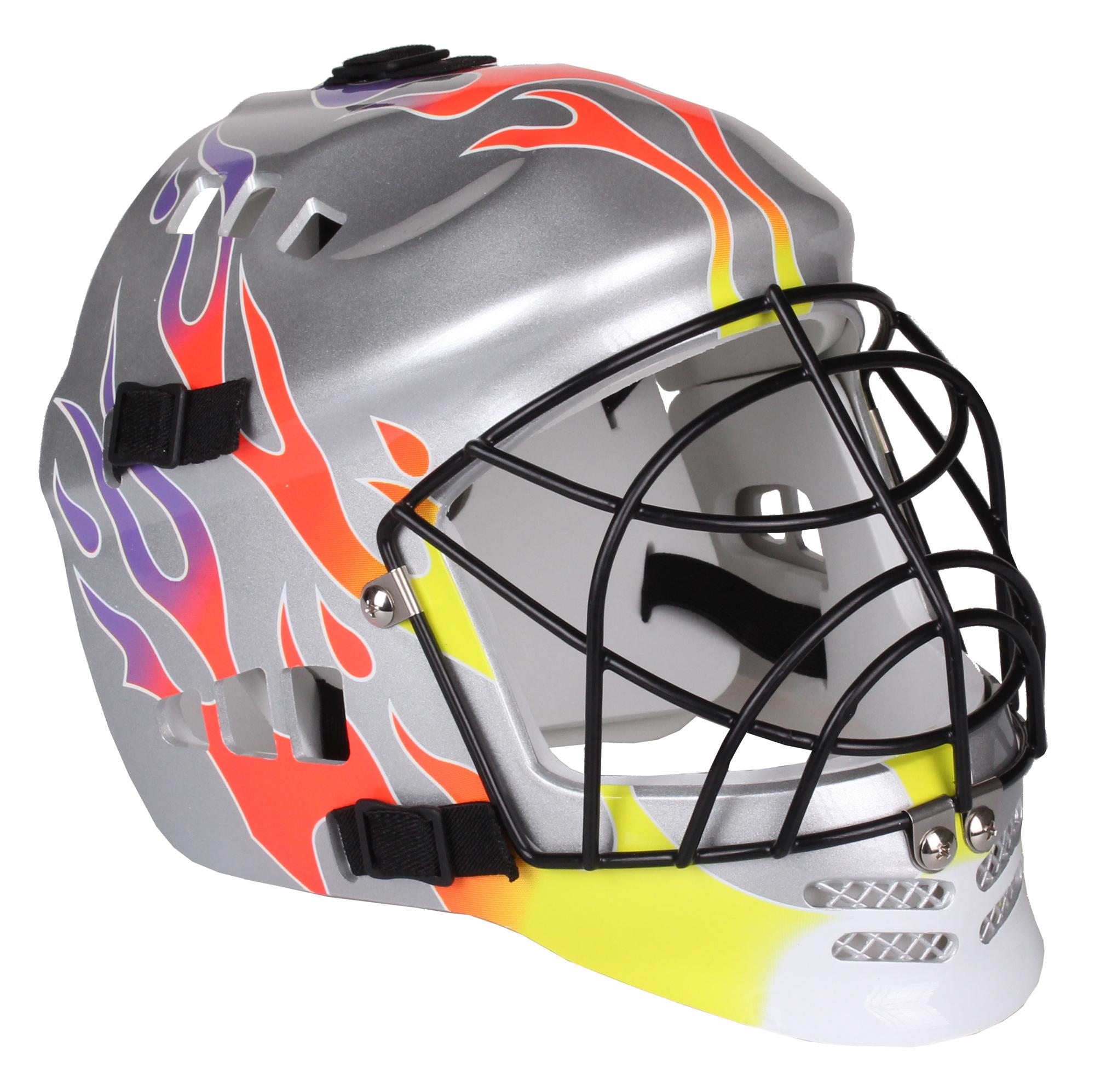 SEDCO Flame florbalová maska - stříbrná - senior
