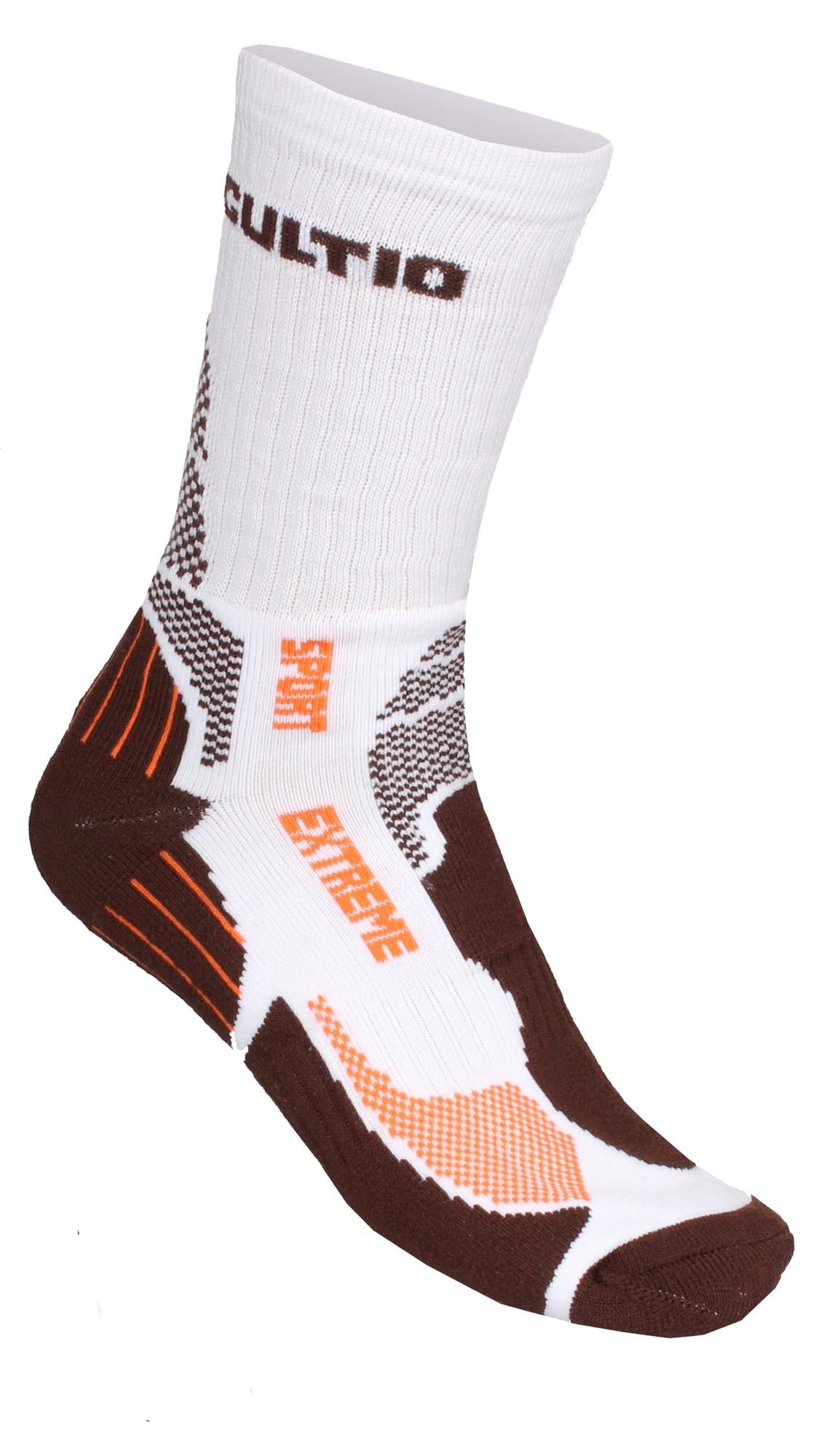 GULTIO 10 ponožky extreme sport, hnědá46-47