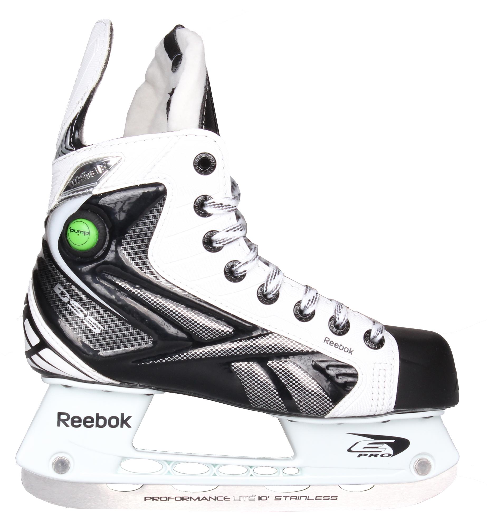 REEBOK White K Pump, JR hokejové brusle, šíře D