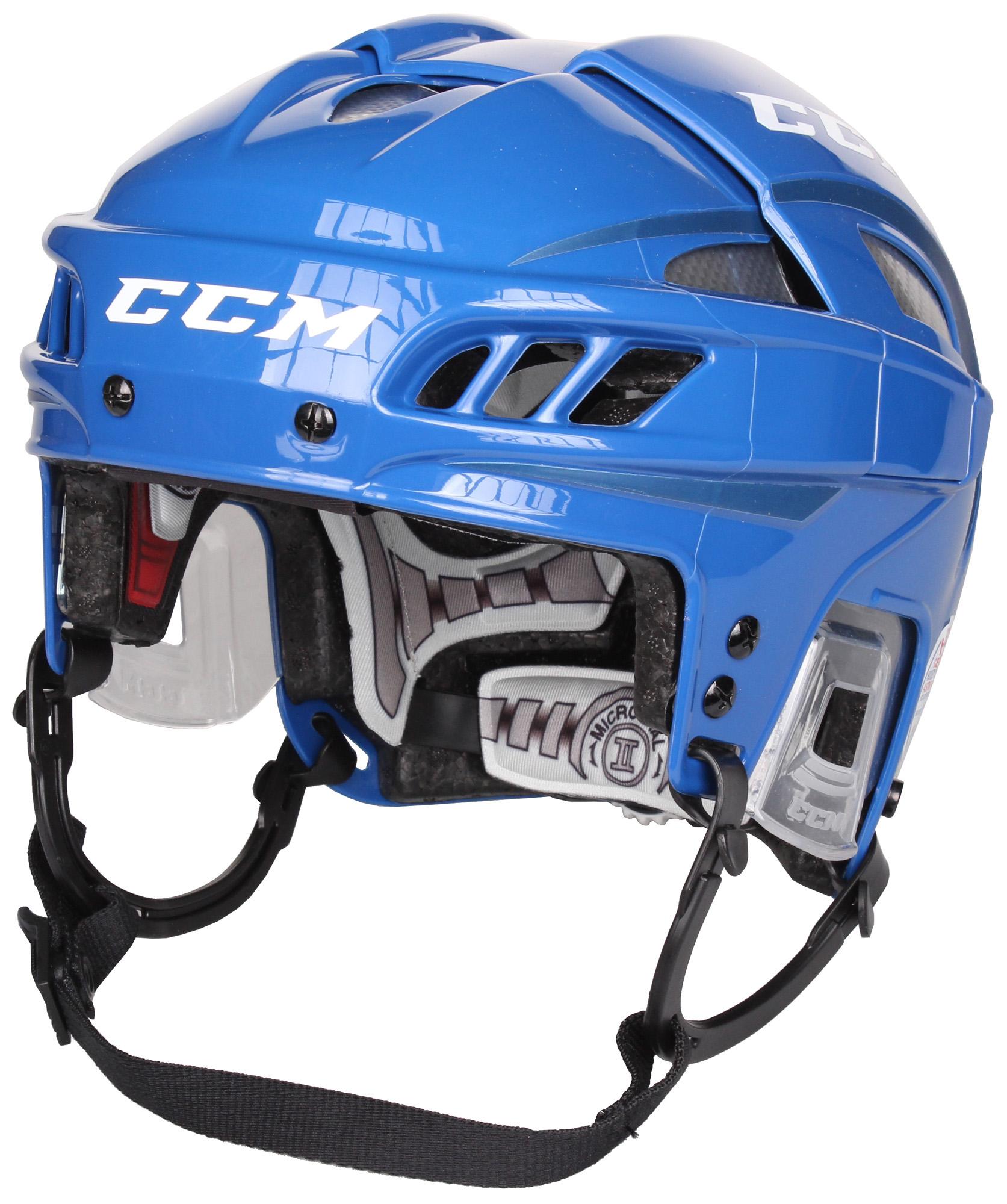 CCM FitLite hokejová helma - modrá