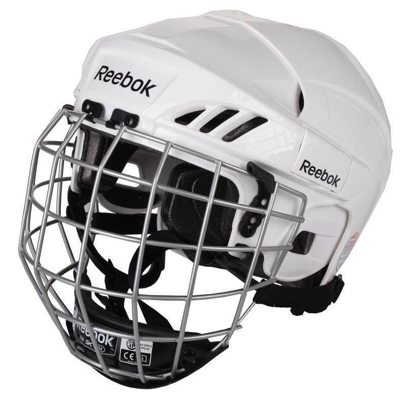REEBOK 3K Combo, 2013 hokejová helma s mřížkou - bílá