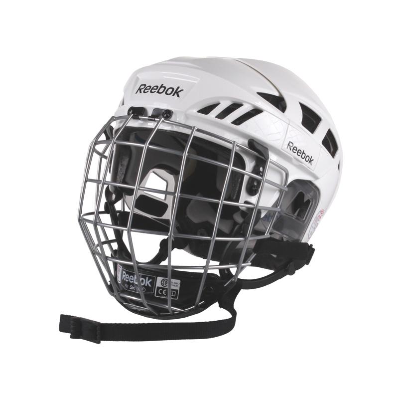 REEBOK 7K Combo hokejová helma s mřížkou - bílá