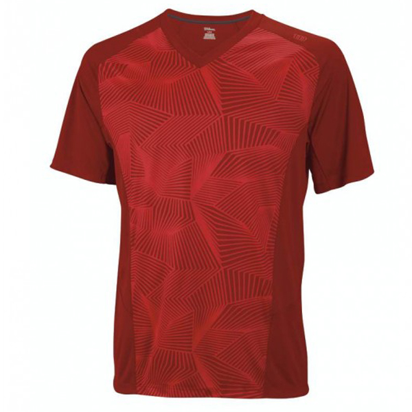 Tričko pánské WILSON SOLANA GEO CREW RED WR1089900
