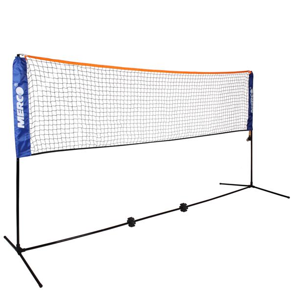 MERCO Badminton / tenis set 6,1m stojany na kurt vč. sítě