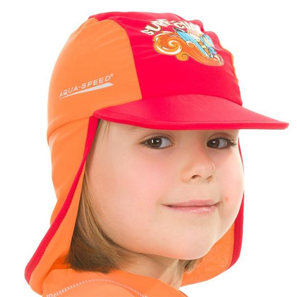 AQUA SPEED Surf Club čepice s UV ochranou - červená