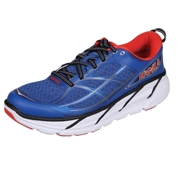HOKA ONE ONE CLIFTON 2 pánská běžecká obuv - modrá - červená