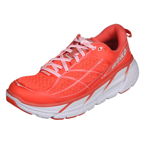 HOKA ONE ONE CLIFTON 2 W dámská běžecká obuv - korálová