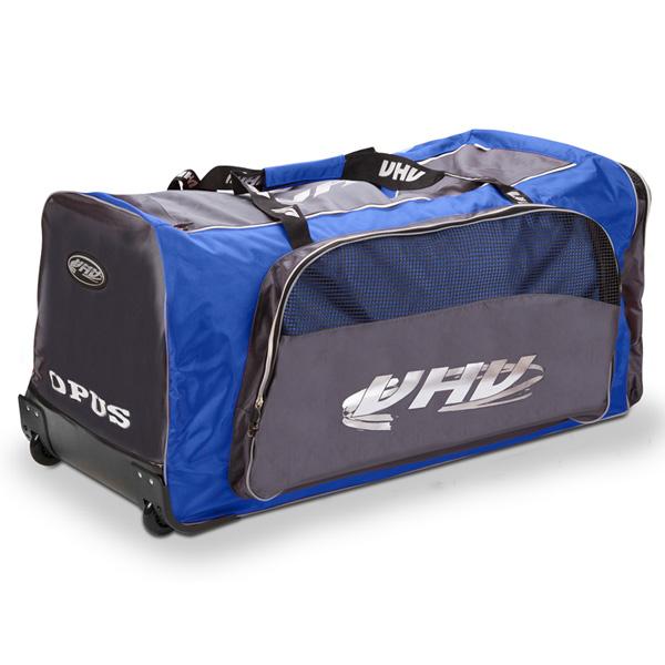 OPUS 4088 hokejová taška na kolečkách - junior - modrá - šedá