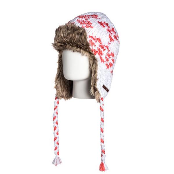 Zimní čepice ROXY SNOW WALK WHITE WTWBE114
