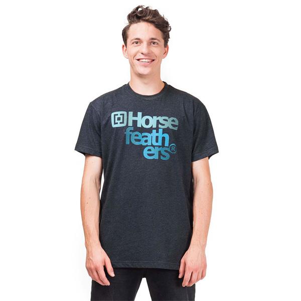 Tričko pánské HORSEFEATHERS TRUE HEATHER BLACK