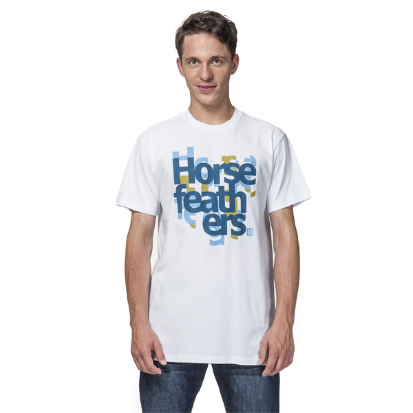 Tričko pánské HORSEFEATHERS SLICED WHITE
