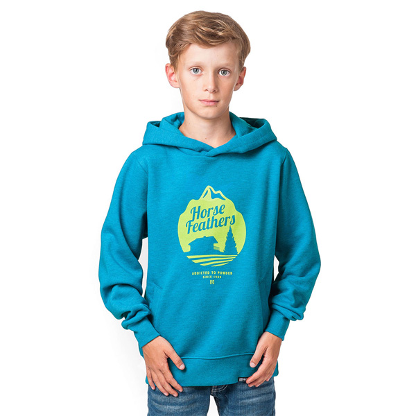 Mikina dětská HORSEFEATHERS CHALET KIDS HEATHER BLUE