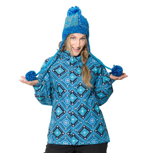 Bunda zimní dámská HORSEFEATHERS CARINA BLUE PERU