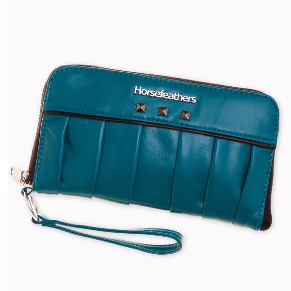 Kožená peněženka dámská HORSEFEATHERS GADGET HARBOR BLUE