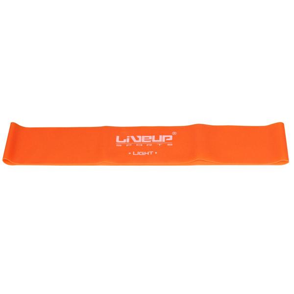 LIVEUP Aerobic guma posilovací, 28x5cm - oranžová