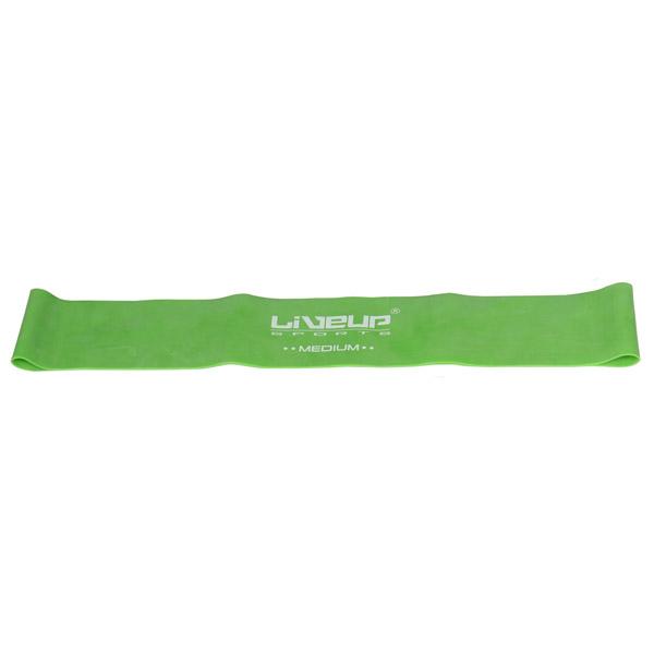 LIVEUP Aerobic guma posilovací, 28x5cm - zelená