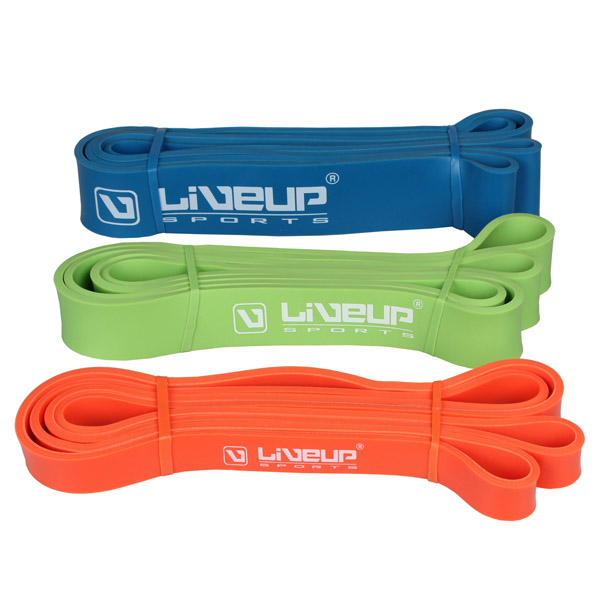 LIVEUP Aerobic guma posilovací, 100x0,5cm - zelená