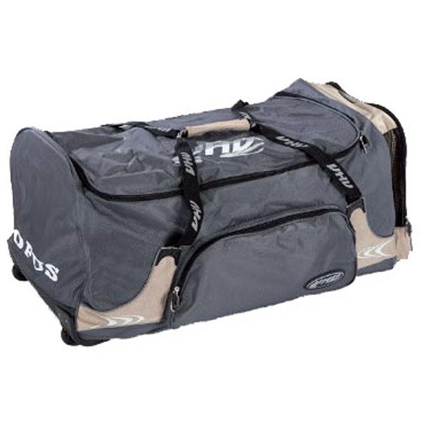 OPUS 3853 hokejová taška na kolečkách - senior - béžová