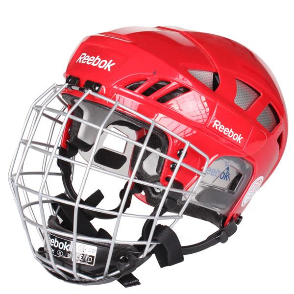 REEBOK 7K Combo hokejová helma s mřížkou - červená