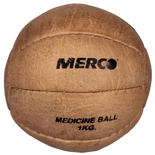 MERCO míč medicinální Leather pravá kůže, ručně šitý - 5 kg
