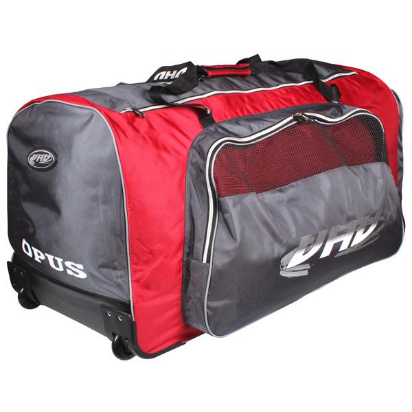 OPUS 4088 hokejová taška na kolečkách - senior - červená - šedá