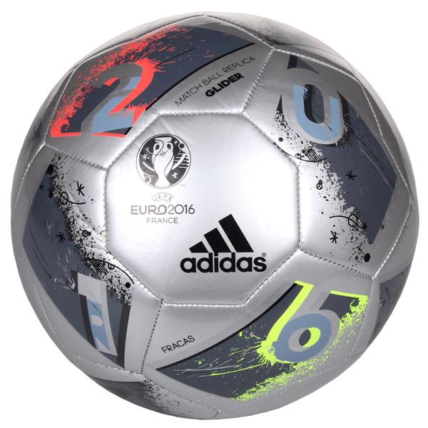 ADIDAS EURO 2016 FRACAS Glider fotbalový míč - stříbrná