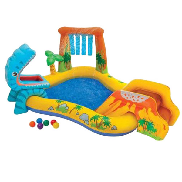 INTEX Dinosaurus 57444 nafukovací hrací centrum
