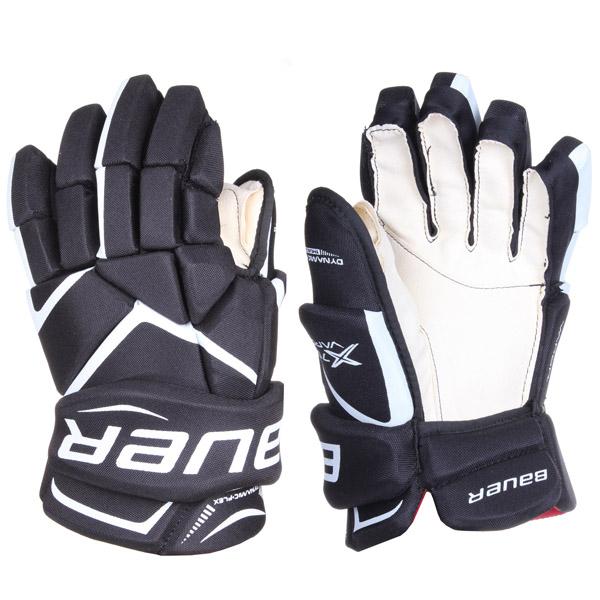 BAUER Vapor X700 JR hokejové rukavice - černá - 11- bílá