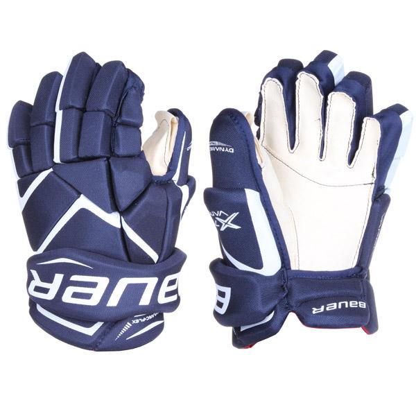 BAUER Vapor X700 JR hokejové rukavice - 12 - modrá - bílá