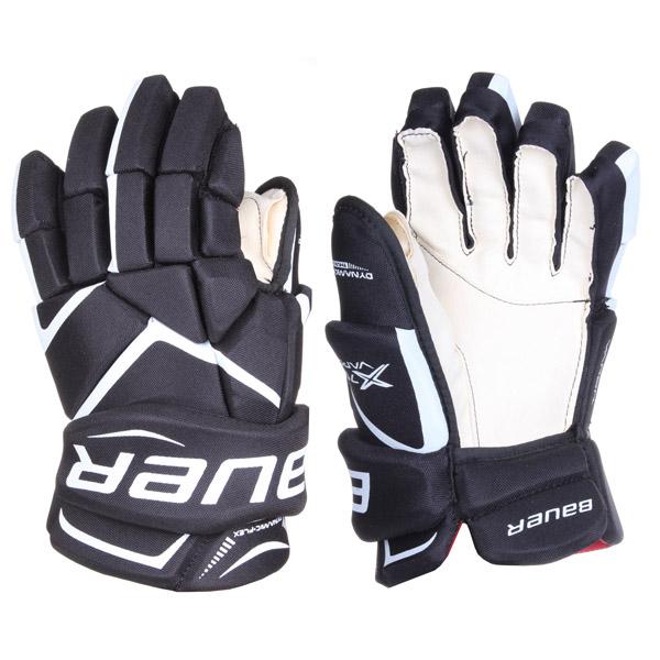 BAUER Vapor X700 SR hokejové rukavice - 15 - černá - bílá