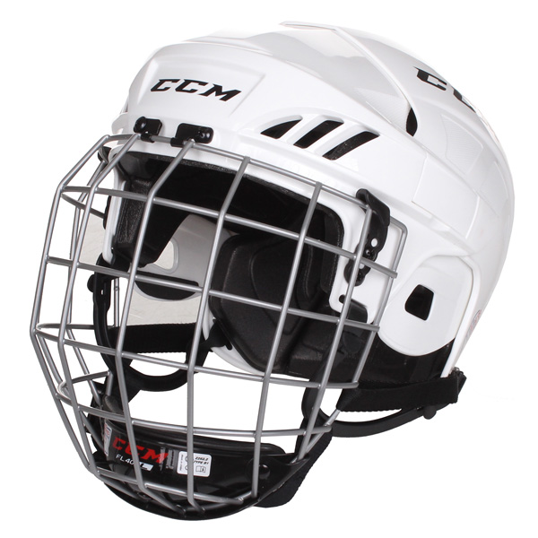 CCM Fitlite 40 Combo hokejová helma s mřížkou - bílá