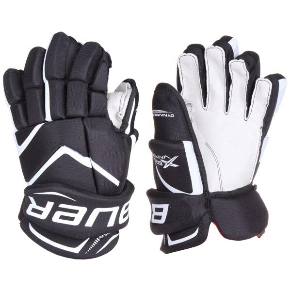 BAUER Vapor X600 SR hokejové rukavice - 14 - černá - bílá
