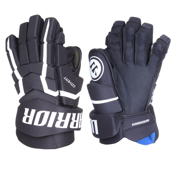 WARRIOR Covert QRL5 SR hokejové rukavice - 14 - černá - bílá