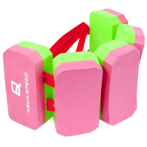 AQUA SPEED Plavecký pás 5-ti dílný - růžová - zelená