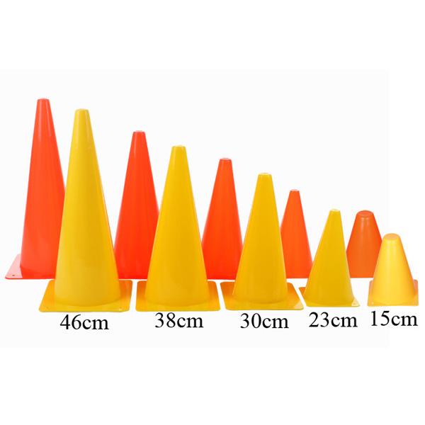 MERCO kužel tréninkový plastový - 38 cm - žlutá