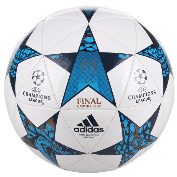 ADIDAS Finale Cardiff Capitano fotbalový míč - bílá - modrá