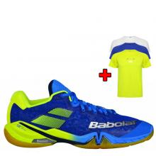 BABOLAT SHADOW TOUR MEN BLUE / YELLOW 2018 + bonus TRIČKO