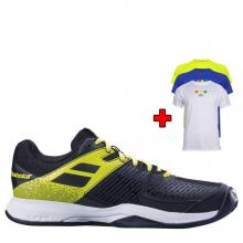 BABOLAT PULSION CLAY MEN BLACK / FLUO AERO + bonus TRIČKO